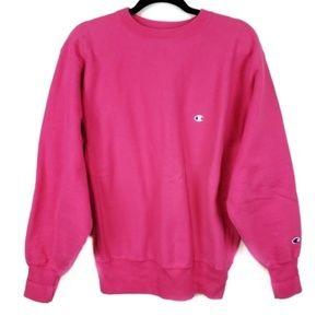 Vintage Champion Reverse Weave Pink Sweatshirt XL